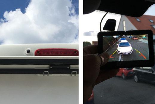 Wohnmobilausbau - Die Rückfahrkamera neben der Bremsleuchte