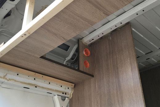 Wohnmobilausbau - Der Bau der Oberschränke