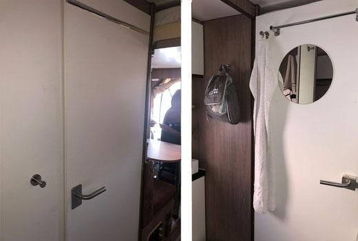 Wohnmobilausbau - Die Badtür