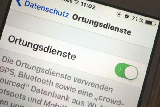 Wohnmobilausbau - iPhone GPS Tracker