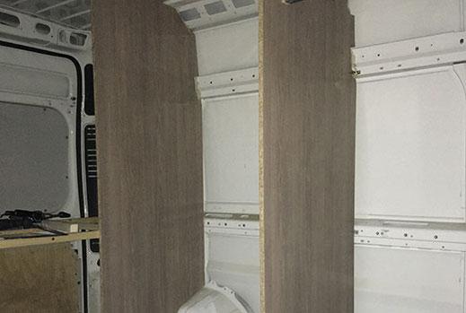 Wohnmobilausbau - Einbau der Stellwände