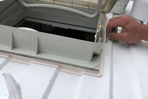 Wohnmobilausbau - Einbaurahmen für die Dachluke, Profildach