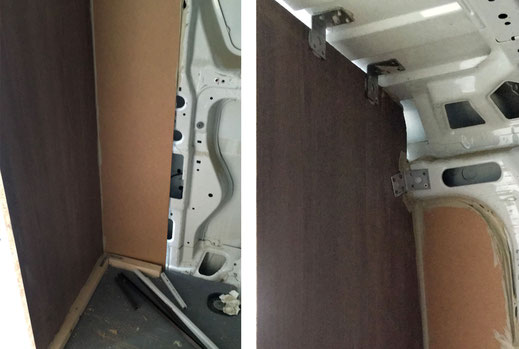 Wohnmobilausbau - Die Verkleidungen von innen