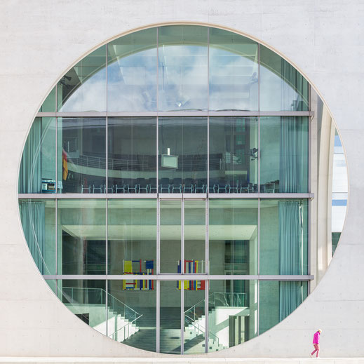 Berlin, Architecture, Marie-Elisabeth-Lüders-Haus, Holger Nimtz, Pink,