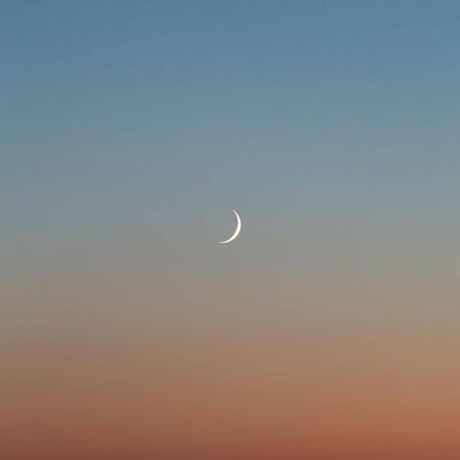 Moon, Mond, sunset, Sonnenuntergang, Fotografie, Minimalismus, minimalism, minimalist, minimalistisch, Holger Nimtz, Wandbild, Kunst, fine art, Fotokunst, Photography,