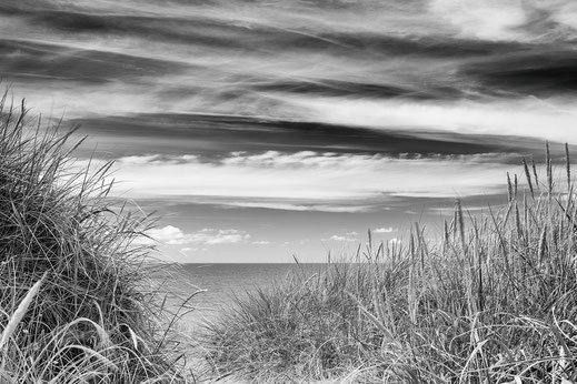Düne, dune, black and white, monochrome, Denmark, Dänemark, Nordsee, North Sea, Holger Nimtz, Fotografie, photography, seascape,