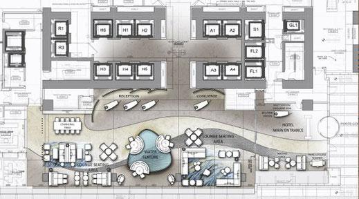 Realizacion de muebles para recepcion de hotel, fabricamos su recepcion a medida.