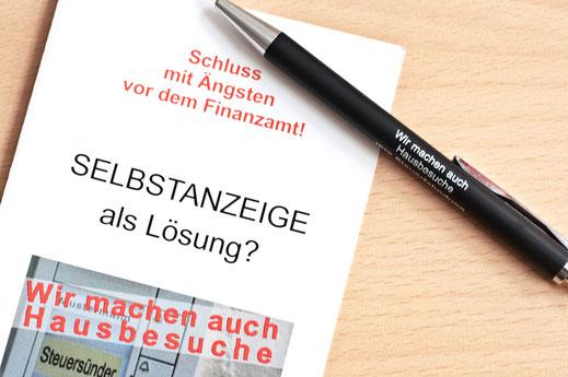 Flyer Selbstanzeige Steuerstrafrecht Sabine Kleinke