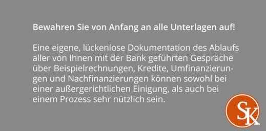 Tipps Sabine Kleinke Beratungsfehler Unterlagen
