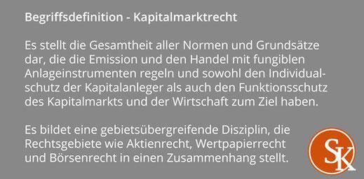 Begriffsdefinition Kapitalmarktrecht Sabine Kleinke