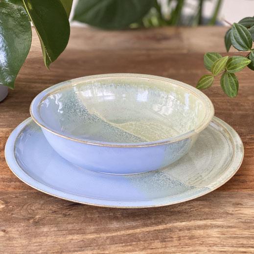 Handgetöpferte Teller & Schalen, Kollektion Tableware Ceramics, farbig ©Keramikatelier Sabine Schönbohm
