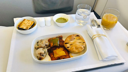Vistara Business Class food