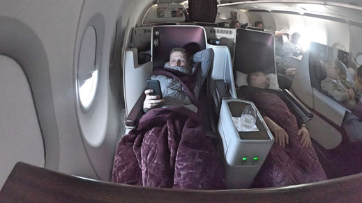 Qatar Airways A320 Business Class