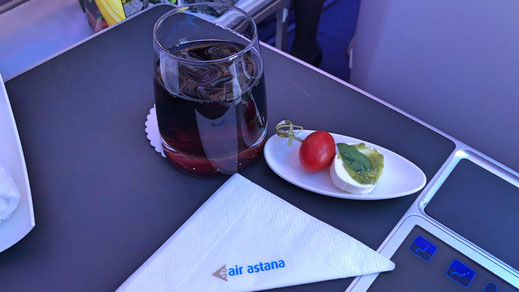 Air Astana food