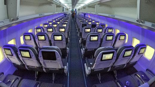 Air Astana 757 Economy Class