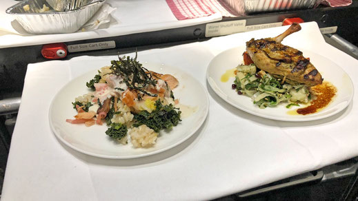 qantas business class food
