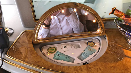 Emirates first class mirror