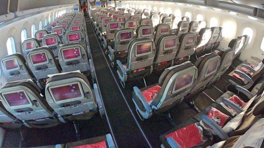 Kenya Airways 787 Economy Class