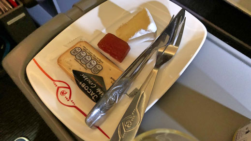 Kenya Airways Business Class food