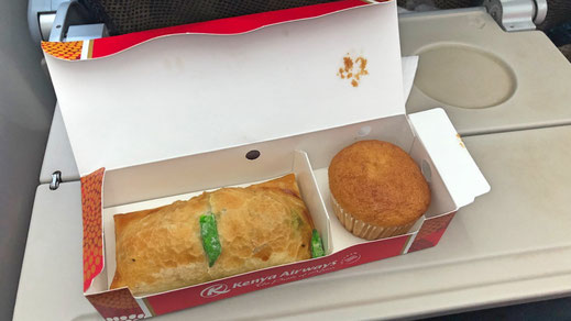 Kenya Airways 787 Economy Class Snack