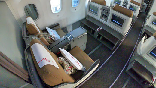 Kenya Airways 787 Business Class Seat
