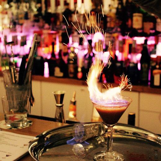 Fire Cocktail in der Barschule Zürich