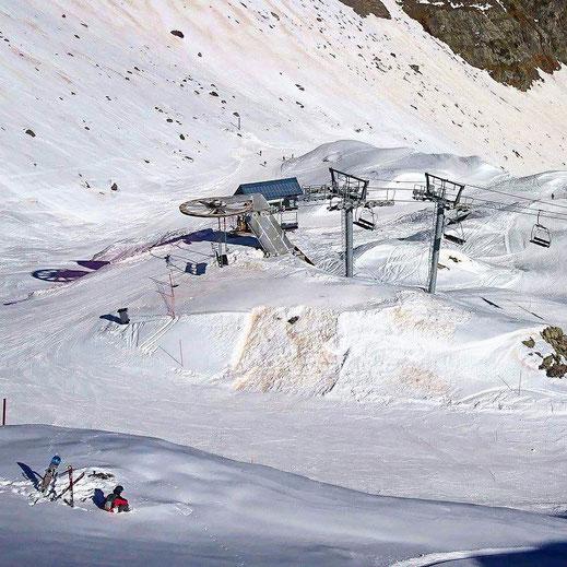 paysage neige vu magnifique montagne