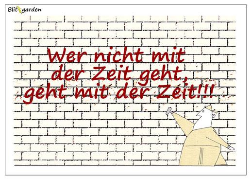 Blitzgarden Cartoon für Menschenkenner-Mkt. Oli Kock: Sprayer und Graffiti