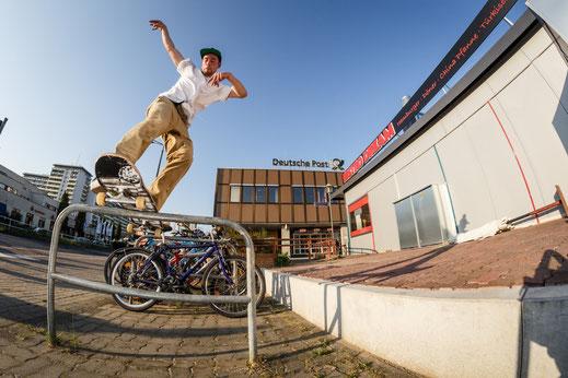 Skateboarding Eindhoven Holland Netherlands Boardslide Handrail