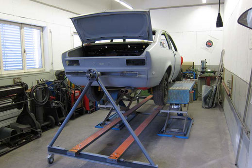 Total Restauration Opel Kadett C GT/E, Oldtimer Garage D. Bauhofer, Teufenthal