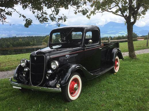 Ford Pickup 1935, Oldtimer Garage D. Bauhofer, Teufenthal - Restauration und Werkstatt Service von Oldtimern