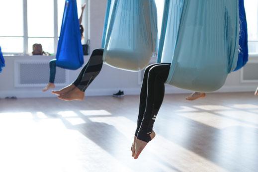 Aerial Yoga Nordkirchen bei Yamida Yogaschule Lüdinghausen