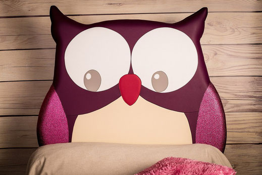 rêves en tête-tête de lit originale artisanale chambre enfant hibou