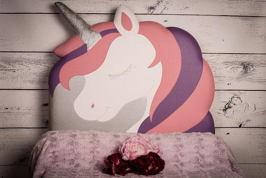 rêves en tête - tête de lit enfant - licorne