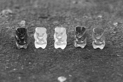 Gummibärchen in Schwarzweiß von Tobias Gawrisch