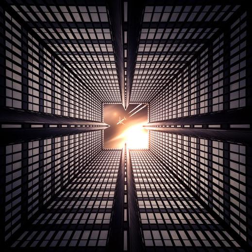 Kaleidoskop-Composing Essener Rathaus von Tobias Gawrisch (Xplor Creativity)