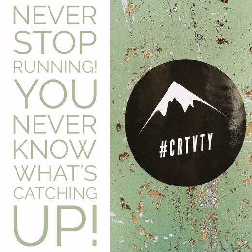 Motivationsspruch mit #CRTVTY Aufkleber von Tobias Gawrisch Xplor Creativity
