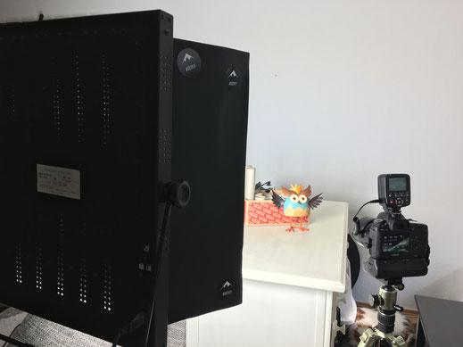 Test-Setup für ein ETTR-Testshooting mit Dauerlicht-Beleuchtung