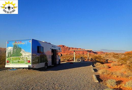 Campingplatz im Valley of Fire State Park bei Las Vegas.
