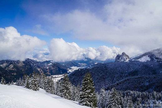 Der Ausblick vom Breitenberg auf das Tal. @wiraufreise