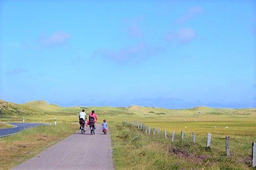 Familien Radurlaub an der Nordsee.