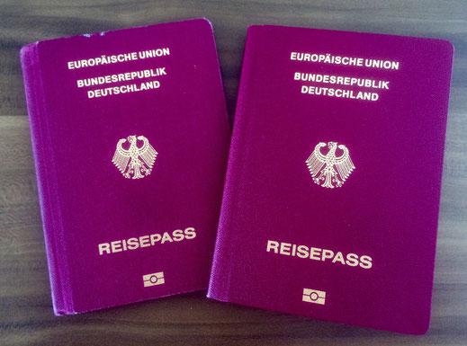 Reisepass für das Baby zur Einreise in die USA