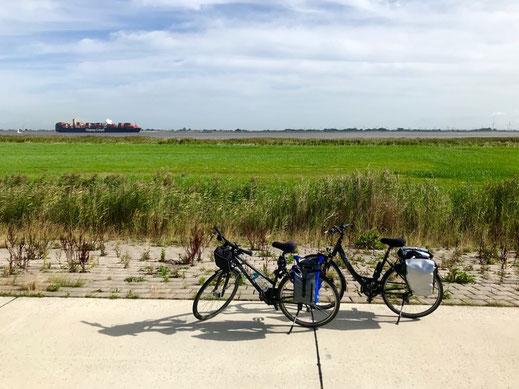 Fahrräder Elbradweg nach Cuxhaven.