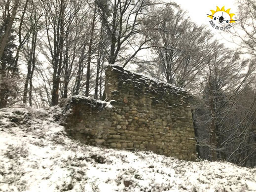 Nicht mehr viel übrig von der Ruine Hohenfels bei Sipplingen.