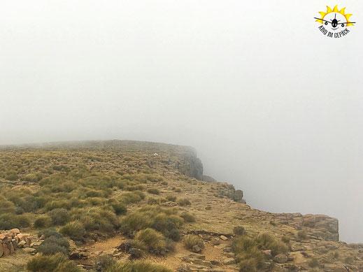 Sani Top in den Wolken.