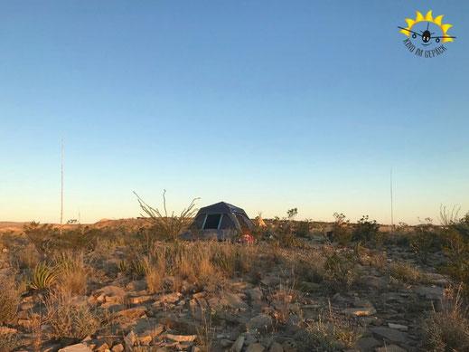 360 Grad Panorama über Terlingua auf den Big Bend NP