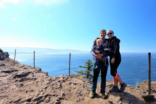 Wanderausflug an der Oregon Coast mit Kleinkind.