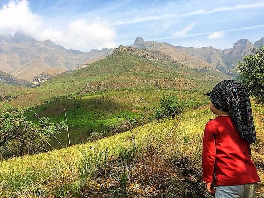 Der Blick auf´s Amphitheater in den Drakensbergen/Südafrika.