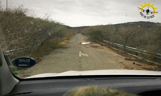 Die Straße zum Cengeni Gate.