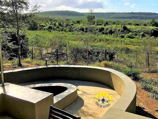 Der traumhafte Ausblick von der Nselweni Bush Lodge.